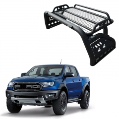 Truck accessories universal anti roll bar with basket for 4x4 pickup ranger/hilux/Np300