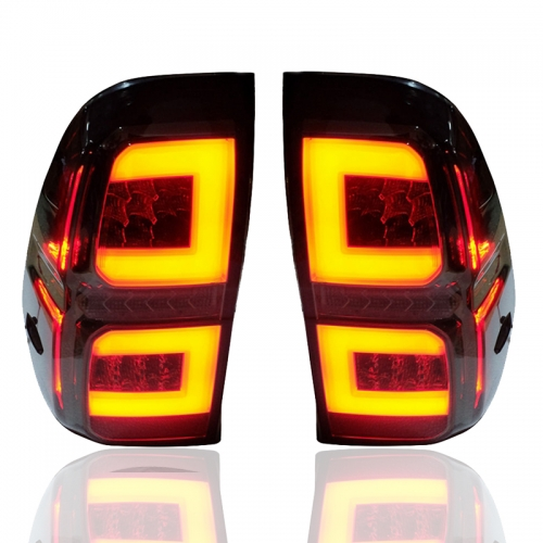 Led Tail Lamp Rear Smoke Light Len Fit For Toyota Hilux Pickup Revo 15-18