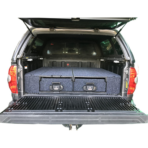 WAAG Double Twin Drawer Ute 4wd Storage Roller Drawers Cargo for Tundra Pickup Truck